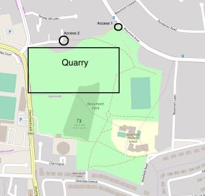 beaumont quarry cork access map